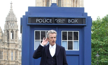 'Doctor Who' Tardis appears in Parliament Square, London, Britain - 22 Aug 2014